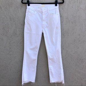 MOTHER Insider Crop Step Fray Raw Hem Jeans